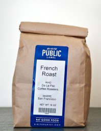 packaging and label design for local San Francisco food and beverage, private label coffee