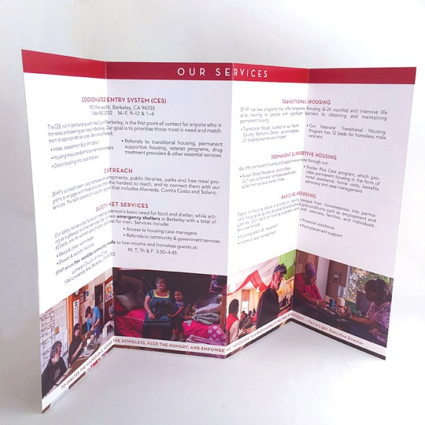 Berkeley Food and Housing Project brochure interior