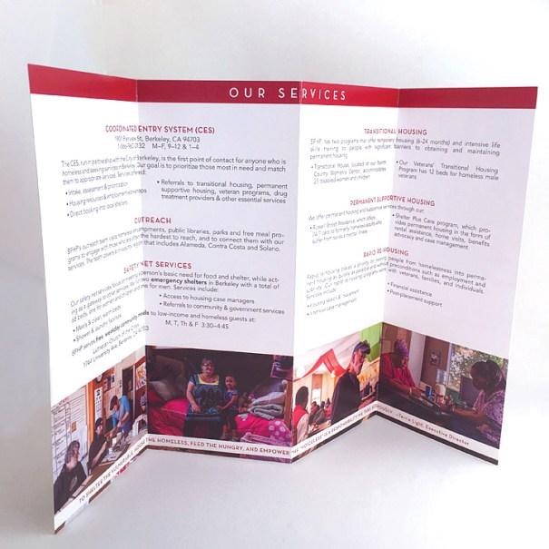 Berkeley Food and Housing Project brochure interior