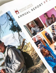 Annual report design for San Francisco Bay Area nonprofit, Berkeley Food and Housing Project