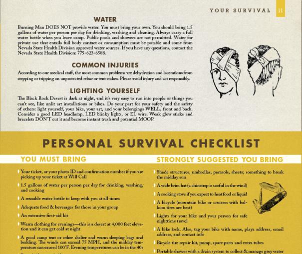 periodical design for Burning Man