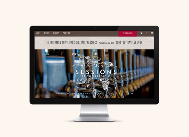 Restaurant website Sessions San Francisco