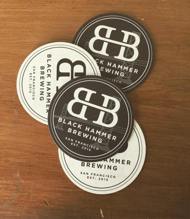 logo and branding for San Francisco based Black Hammer Brewing