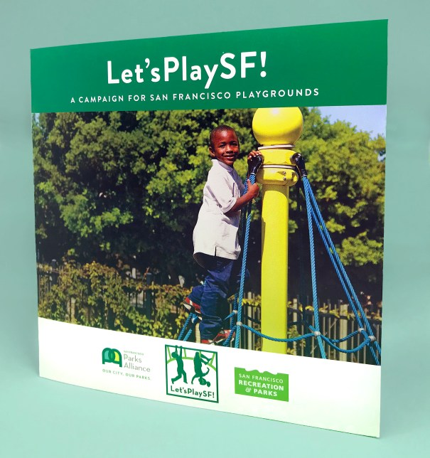 Brochure design for the San Francisco Parks Department and the San Francisco Parks Alliance