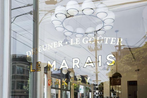logo and branding for Le Marais Bakery in San Francisco's Castro district