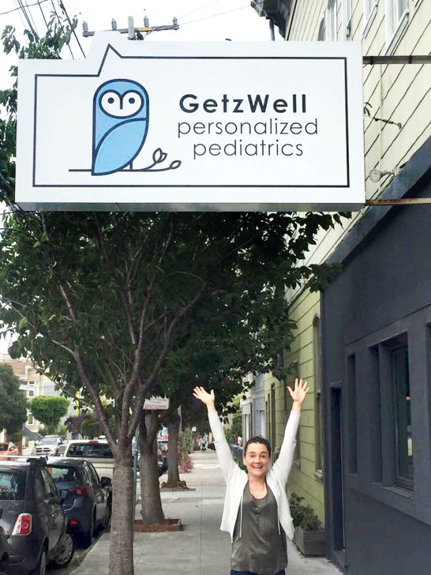 San Francisco's GetzWell Pediatrics new logo, branding and signage