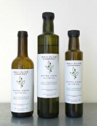 Maui Olive Company olive oil label design,