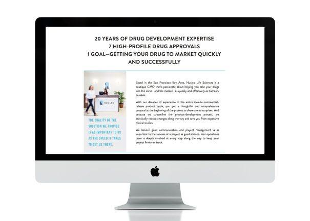 website design for Nucleo life sciences