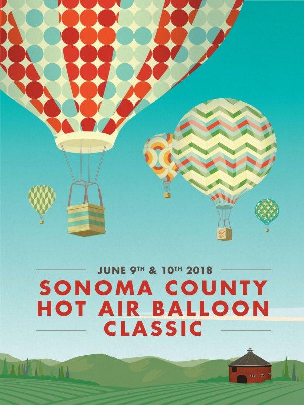 Hot Air Balloon festival poster, hot air balloon illustration