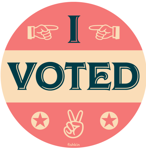 get out the vote, free sticker, great design