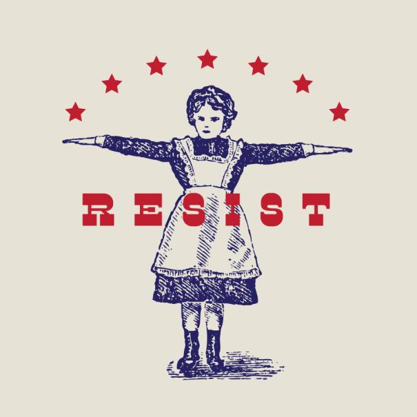 Resist graphic, political meme