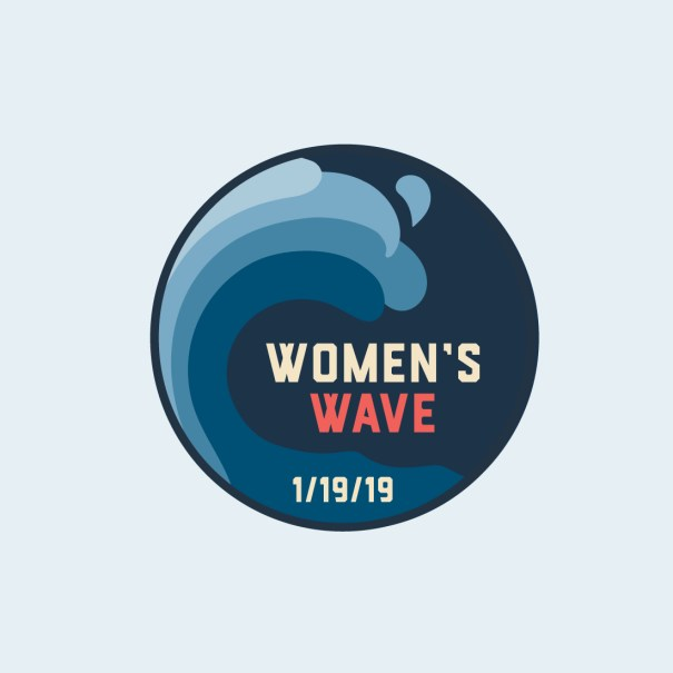 button design for the women's march logo and branding