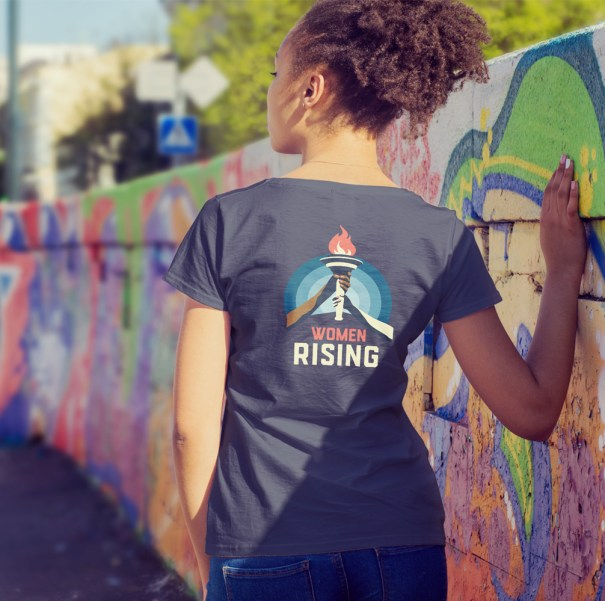 Women's March Women Rising 2020 design