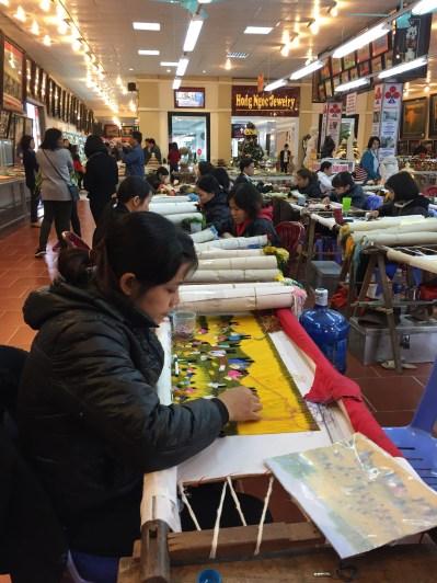 Workshop LUkisan Benang Vietnam