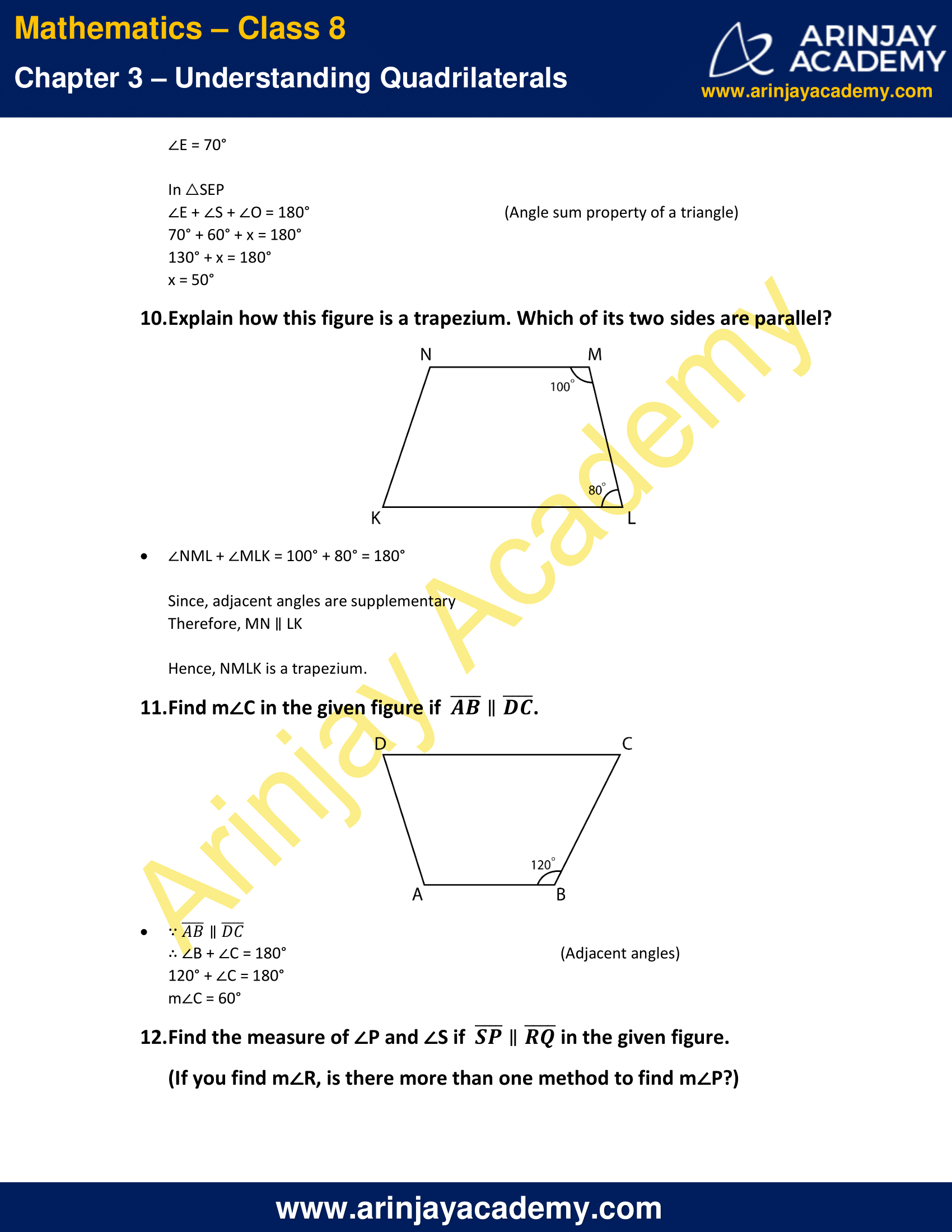 Ncert Solutions For Class 8 Maths Chapter 3 Exercise 3 3