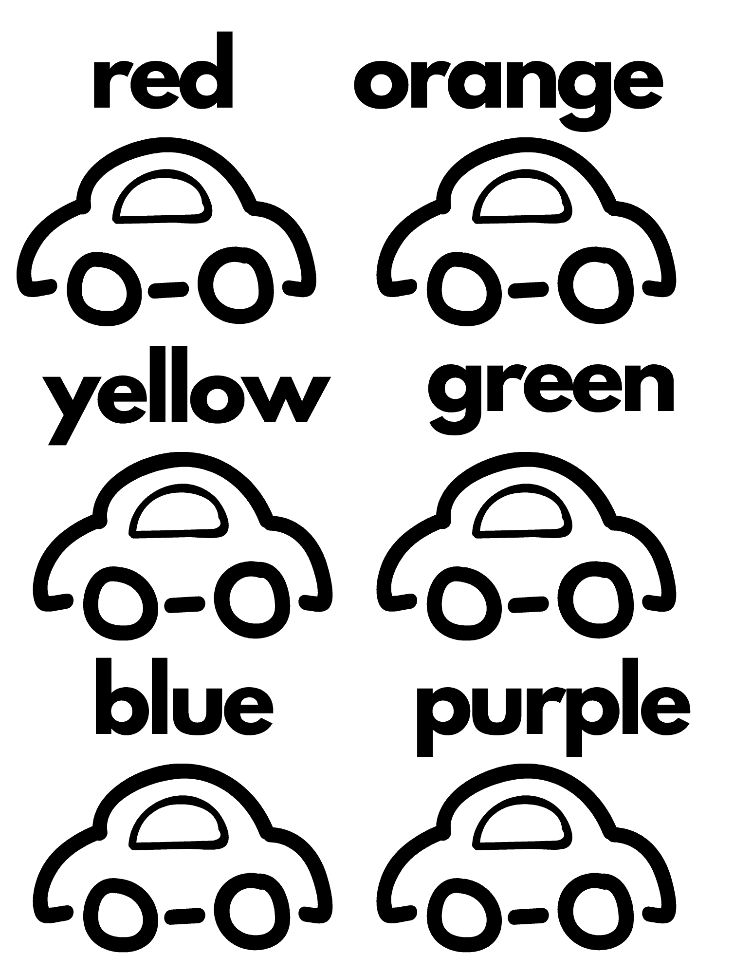 Free Printable Preschool Worksheets Car Themed