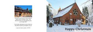 Christmas Card Design B (All Saints in snow)