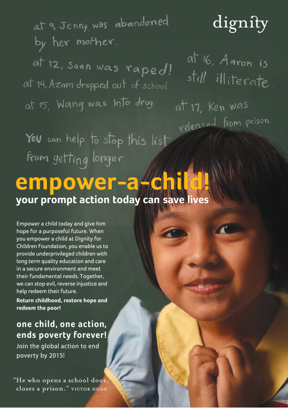 Dignity For Children Foundation Malaysia – Empower a child