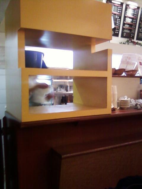Tray Return Area, Japanese cafe