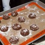 Pumpkin Fudge Crinkle Cookies