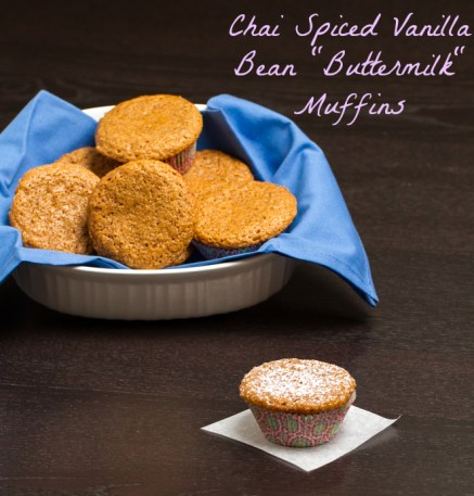 "Chai Spiced Vanilla Bean ""Buttermilk"" Muffins #vegan"