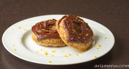 Chocolate Frosted Orange (baked) Donuts #vegan #glutenfree