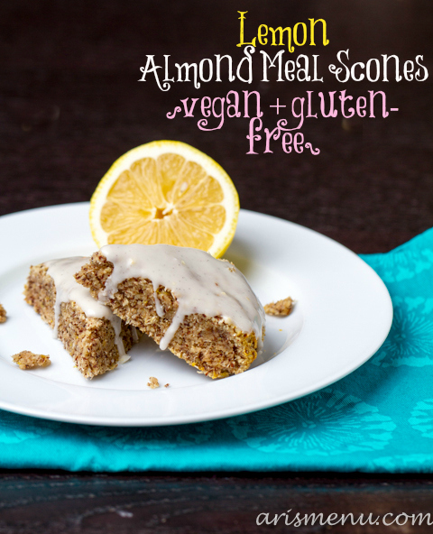 Lemon Almond Meal Scones #vegan #glutenfree