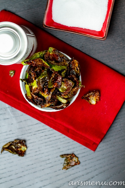 2 Ingredient Truffle Brussels (Sprouts) Chips #vegan #glutenfree