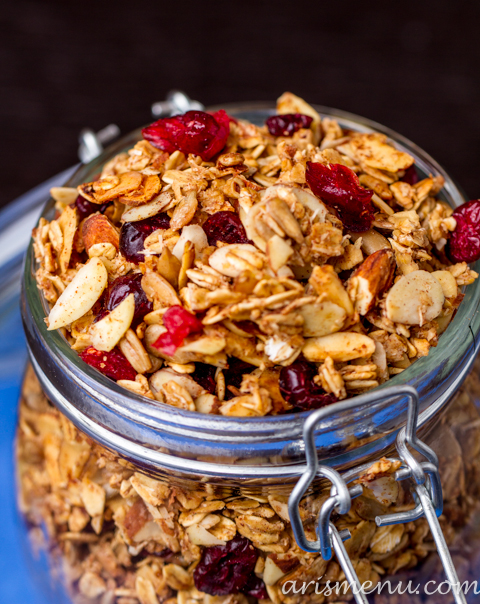 Cranberry Almond Granola #vegan #glutenfree