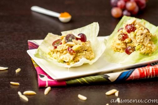 Curried Chicken Salad {without mayo} #glutenfree via arismenu.com