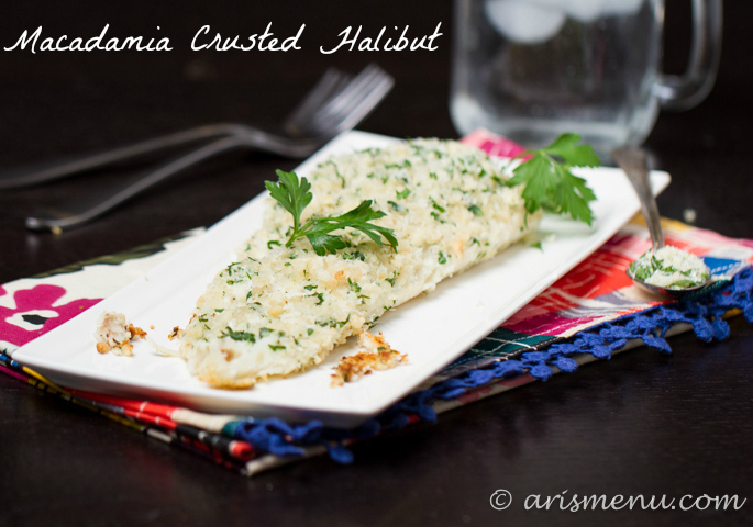 Macadamia Crusted Halibut