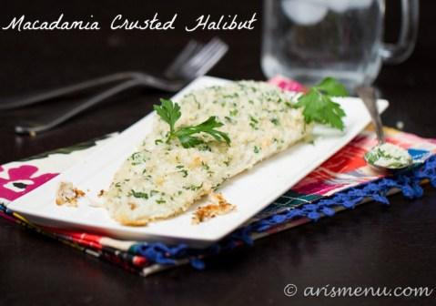 Macadamia Crusted Halibut #paleo
