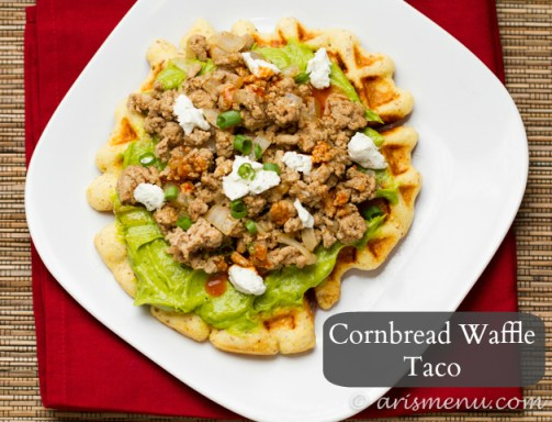 Cornbread Waffle Taco #glutenfree