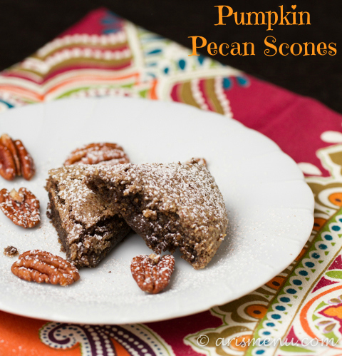 Pumpkin Pecan Scones #vegan #glutenfree