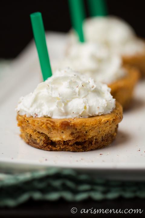 Pumpkin Spice Latte Cheesecake Cups #glutenfree