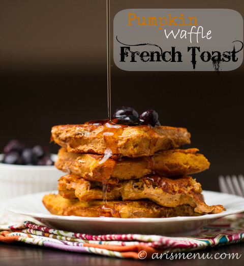 Drink & Dish: Pumpkin Waffle French Toast