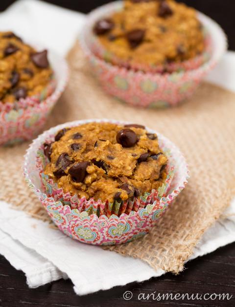 Pumpkin Banana Chocolate Chip Muffins #glutenfree #vegan