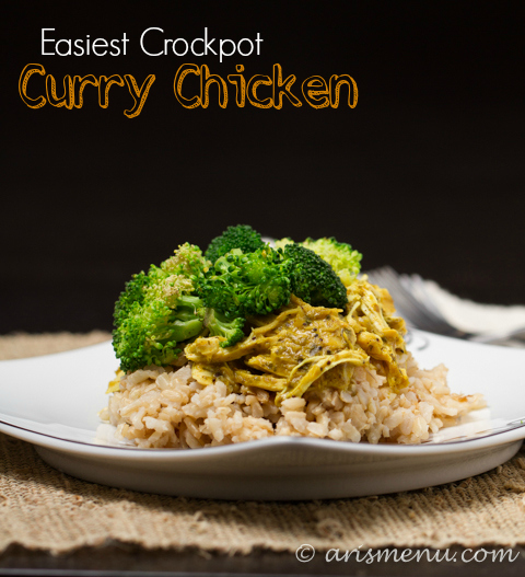 Easy Crockpot Curry Chicken #glutenfree