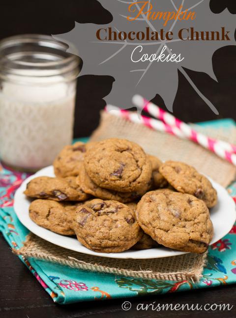 Pumpkin Chocolate Chunk Cookies #vegan #glutenfree.jpg