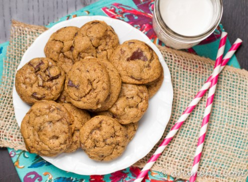 Pumpkin Chocolate Chunk Cookies #vegan #glutenfree