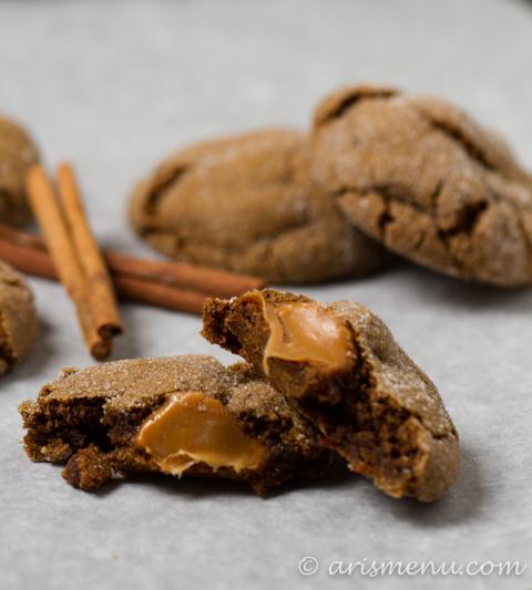 Drink & Dish: Caramel Stuffed Ginger Molasses Cookies