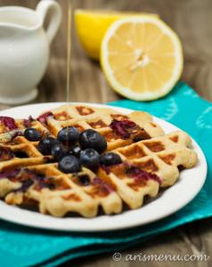 Blueberry Lemon Buttermilk Waffles