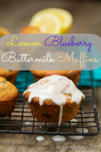 Lemon Blueberry Buttermilk Muffins