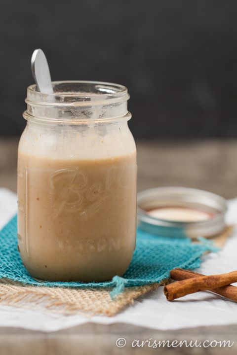 Pumpkin Spice Sweetened Condensed Coconut Milk: Perfect for coffee creamer or to replace sweetened condensed milk in any recipe! Vegan, paleo & refined sugar free.