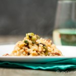 Bacon Brussels Sprouts Risotto: Creamy and smokey--the perfect meal for entertaining!