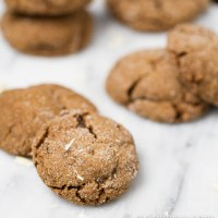 White Chocolate Stuffed Ginger Molasses Cookies