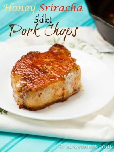 Easy, healthy & delicious one pan Honey Sriracha Skillet Pork Chops