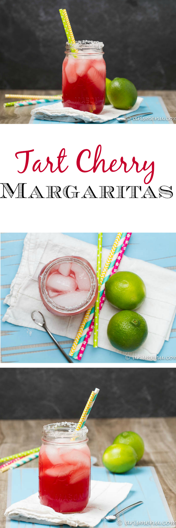 Tart Cherry Margaritas: The perfect, refreshing margarita--lightly sweet with a punch of tequila