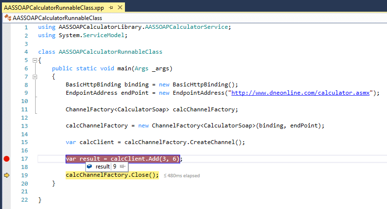 Consume a SOAP web service in Dynamics 365 for Finance and Operations using ChannelFactory 33