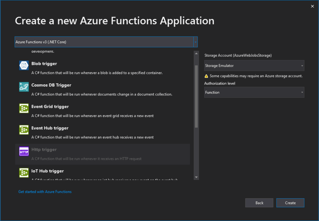 Azure Functions triggers